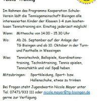 Herzliche Einladung zum Tennis-Training