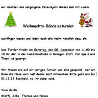 Weihnachts-Bändelesturnier für die Jugend